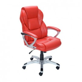 Silla True Innovations Ejecutiva Prado Polipiel Rojo