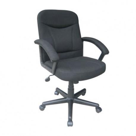 Silla Officemax Ejecutiva Fulton Tela Negro - Envío Gratuito