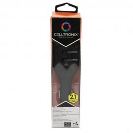 Cargador USB Dual AC y DC Negro 2.1Amp