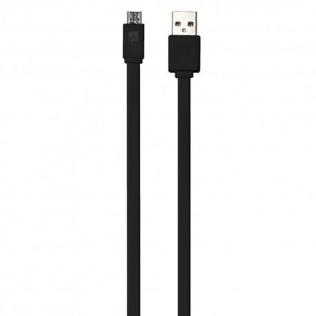 Cable Micro USB 3Ft Case Logic Flat Negro - Envío Gratuito