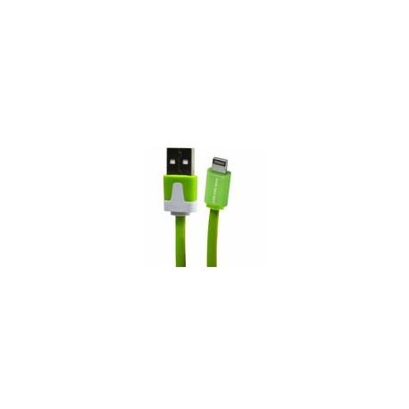 Cable Lightning 3.2 USB Flat Verde - Envío Gratuito