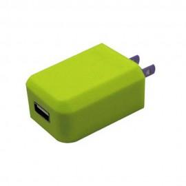 Cargador AC mini USB Verde 1 amp