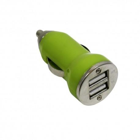 Cargador Auto USB Dual 3.1amp Verde - Envío Gratuito