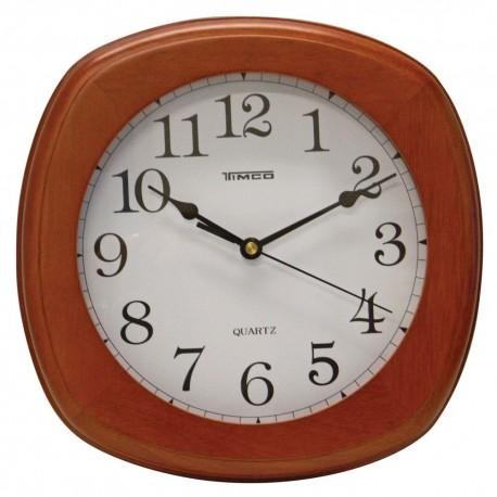 Reloj de Pared Timco con Marco de Madera Nogal - Envío Gratuito