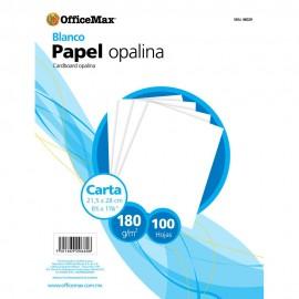 Opalina Officemax Carta Blanca 100 Hojas 180 Gr - Envío Gratuito