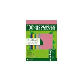 PAPEL RECICLA 100 ROSA PAQUETE CON 100H
