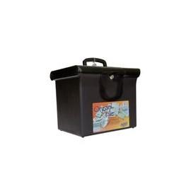 Archivero Organifile de Plástico Tamaño Oficio con Llave Negro - Archivo Plástico Oficio Organifile - Envío Gratuito