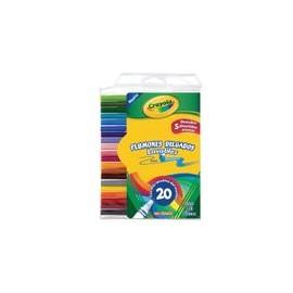 PLUMONES LAVABLES CRAYOLA 20P - Plumones Lavables Crayola 20P - Envío Gratuito