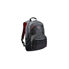Backpack Port 15.6 Houston Negra con Detalles Rojos