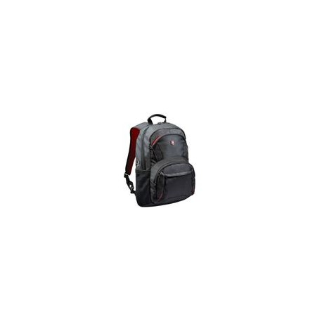 Backpack Port 15.6 Houston Negra con Detalles Rojos - Envío Gratuito