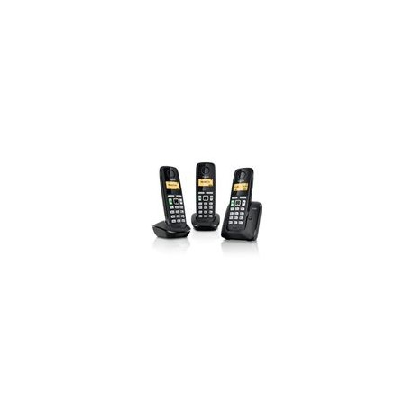 Telefono Gigaset Inalambrico A220 Trio Negro - Envío Gratuito