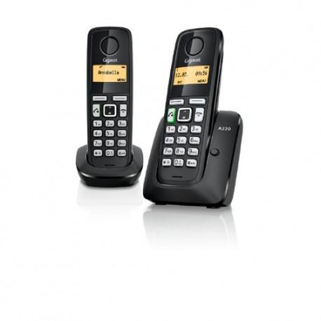 Telefono Gigaset Inalambrico A220 Duo Negro - Envío Gratuito