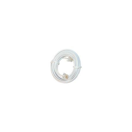 Cable GE para Línea Telefónica Fija 4.5mt color blanco - Envío Gratuito