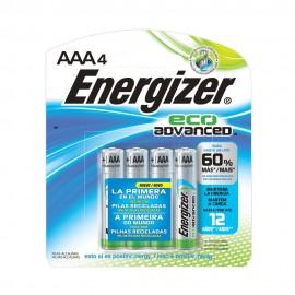 PILA ENERGIZER ECO ADVANCED AAA 4 PZAS