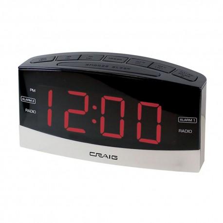 Radio Reloj Craig Bluetooth con Doble Alarma 1.8 - Envío Gratuito