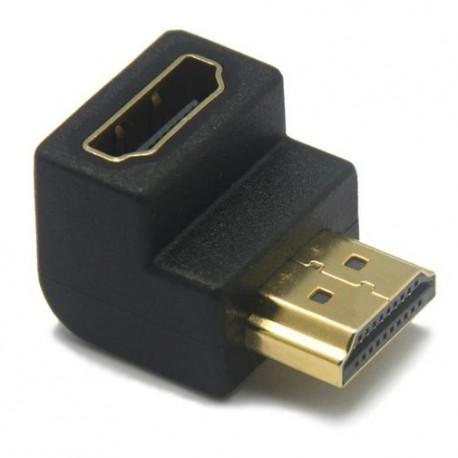 Adaptador HDMI 90 con Conectores Recubiertos Chapa Oro - Envío Gratuito