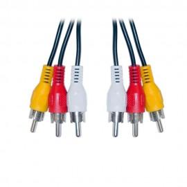 Cable RCA Audio/Video con punta de oro 6ft/1.82mt