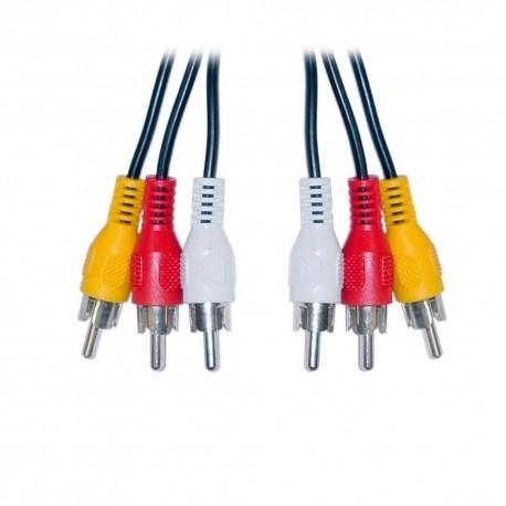 Cable RCA Audio/Video con punta de oro 6ft/1.82mt - Envío Gratuito