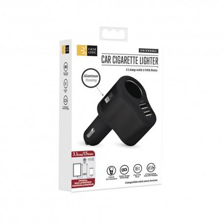 Cargador Dual USB Case Logic 3Amp Negro - Envío Gratuito