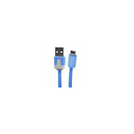 Cable Lightning 3.2 USB Flat Azul - Envío Gratuito