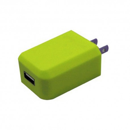 Cargador AC mini USB Verde 1 amp - Envío Gratuito