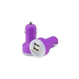 Cargador Auto USB Dual 3.1amp Morado