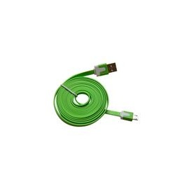 Cable Micro USB 3.2Ft Flat Verde