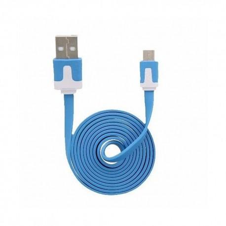 Cable Micro USB 3.2Ft Flat Azul - Envío Gratuito