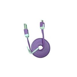 Cable Micro USB 3.2Ft Flat Morado