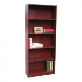Librero 5 Repisas Ajustables Caoba