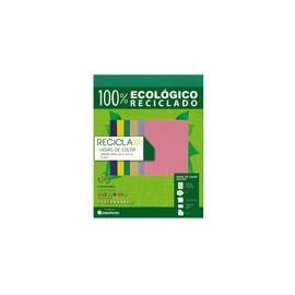 PAPEL RECICLA 100 VERDE BANDERA 100 HOJAS