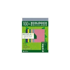 PAPEL RECICLA 100 AZUL CYAN 100 HOJAS
