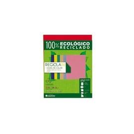 PAPEL RECICLA 100 ROJO PAQUETE CON 100 H