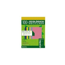 PAPEL RECICLA 100 COLOR AMARILLO PAQUETE CON 100H