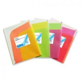 Folder de Polipropileno Horizontal con Cierre Varios Colores