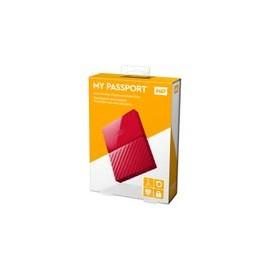 Disco Duro WD 1TB Passport Rojo