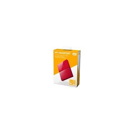 Disco Duro WD 1TB Passport Rojo - Envío Gratuito