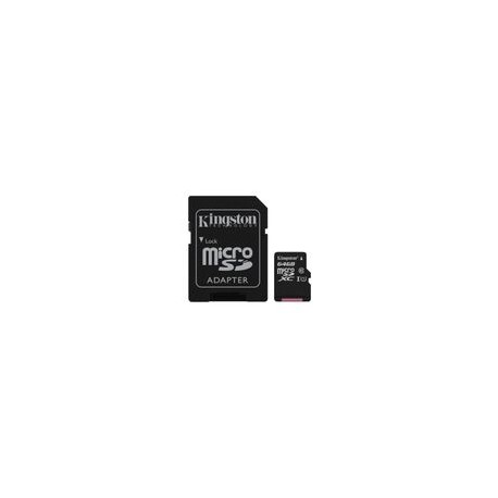 Micro SD Kingston 64GB Clase 10 - Envío Gratuito