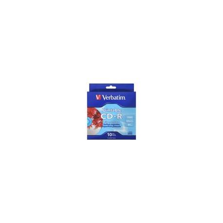 CD-R Verbatim Imprimible 700MB 80Min 52x 10PK - Envío Gratuito