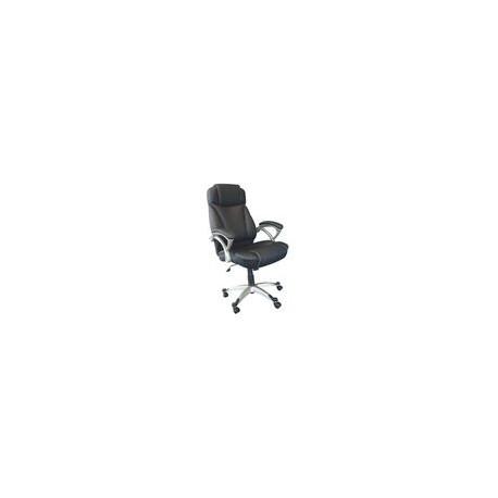 Silla Officemax Ejecutiva Zurich Tela y Polipiel Negro - Envío Gratuito